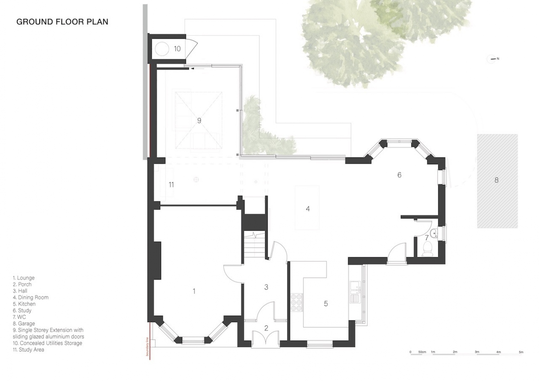 Ground Floor Plan Glencross